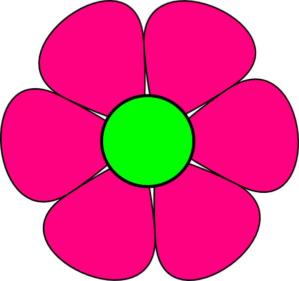 Pink Flower 3 Clip Art at Clker.com.