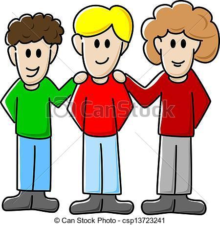 3 friends clipart 1 » Clipart Portal.