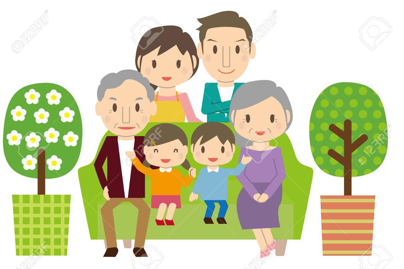 Cute 3 Generation Family Part 1 Sofa Living.