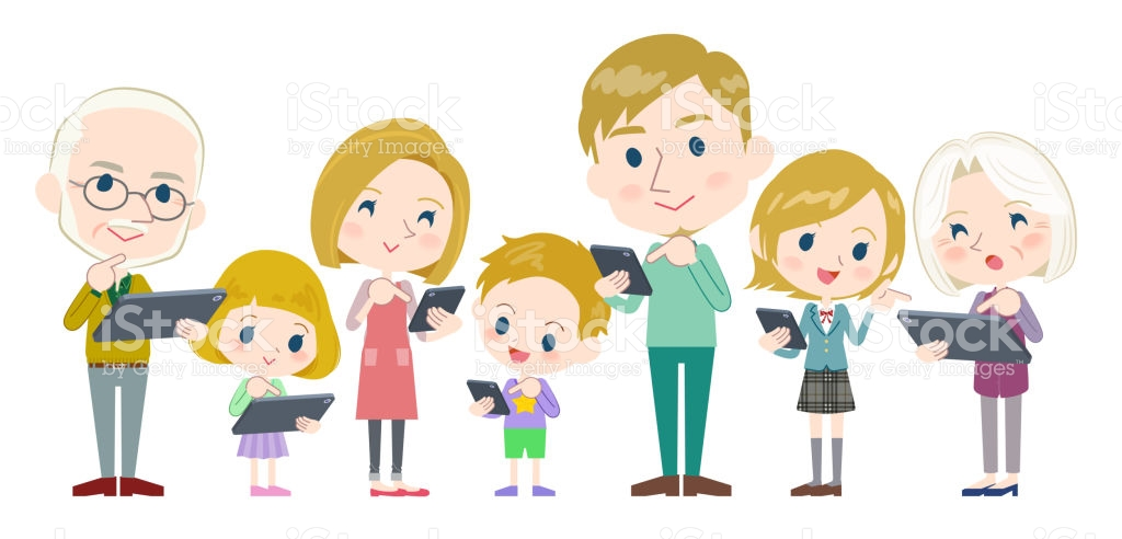 Collection of free Bonding clipart 3 generation family.