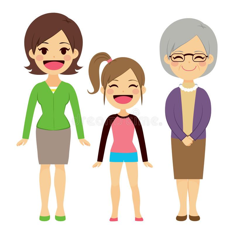 Generation Women Stock Illustrations.