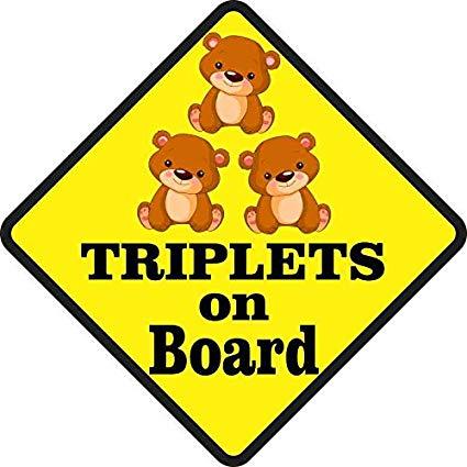 Amazon.com: StickerTalk 5in x 5in Three Girls Triplets on.