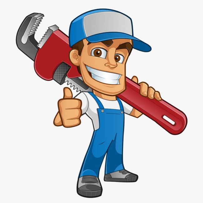 Cartoon Plumber, Cartoon Clipart, Plumber Clipart, Carrying.