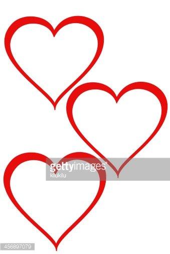 Three Hearts premium clipart.