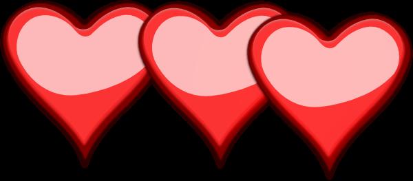 3 Heart Cliparts.