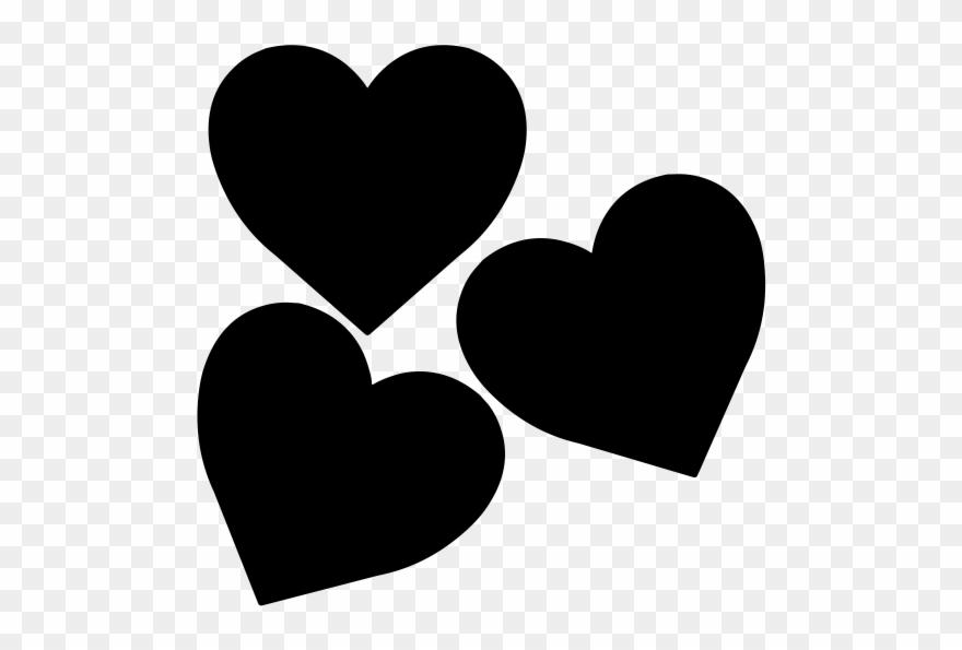 Three Hearts Clip Art.