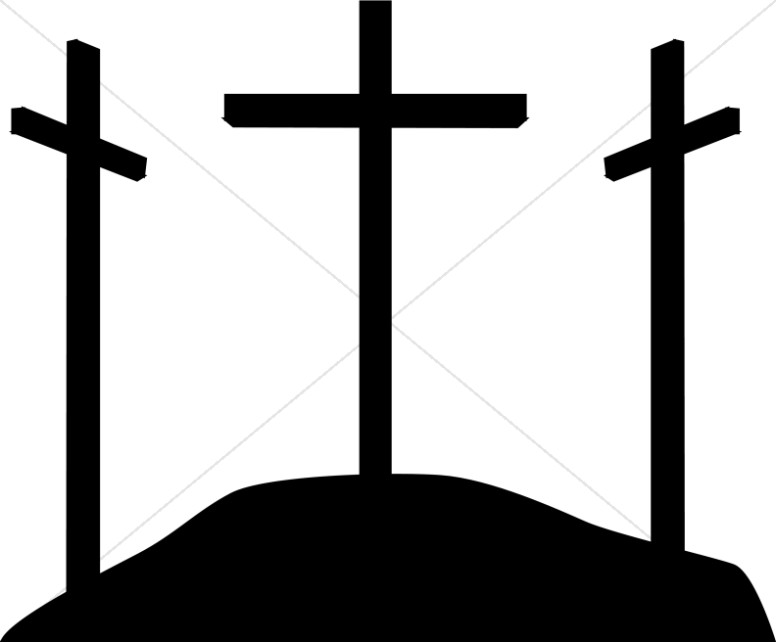 Free Cross On A Hill Silhouette, Download Free Clip Art.