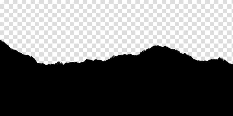 Torn Paper, silhouette of hills illustration transparent.