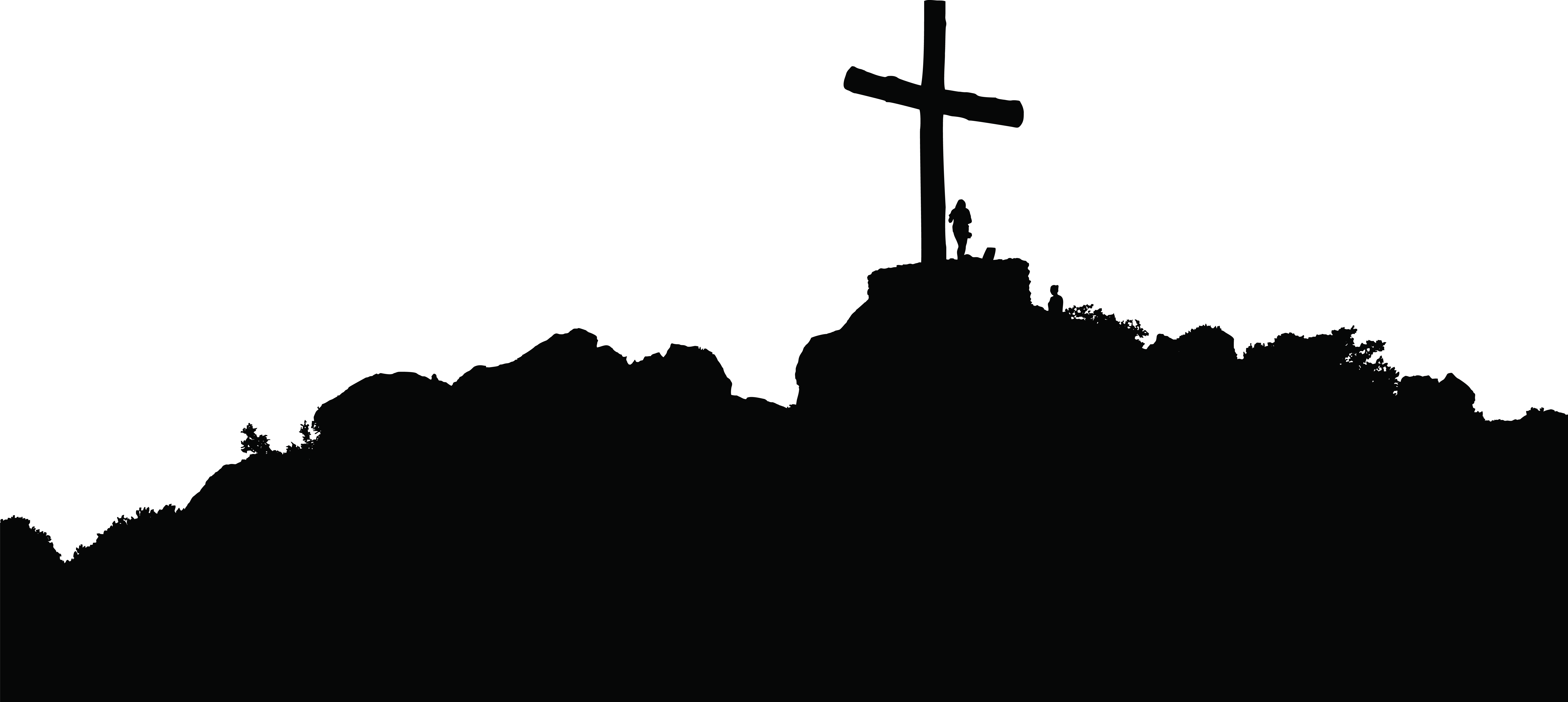Silhouette Christian cross Clip art.