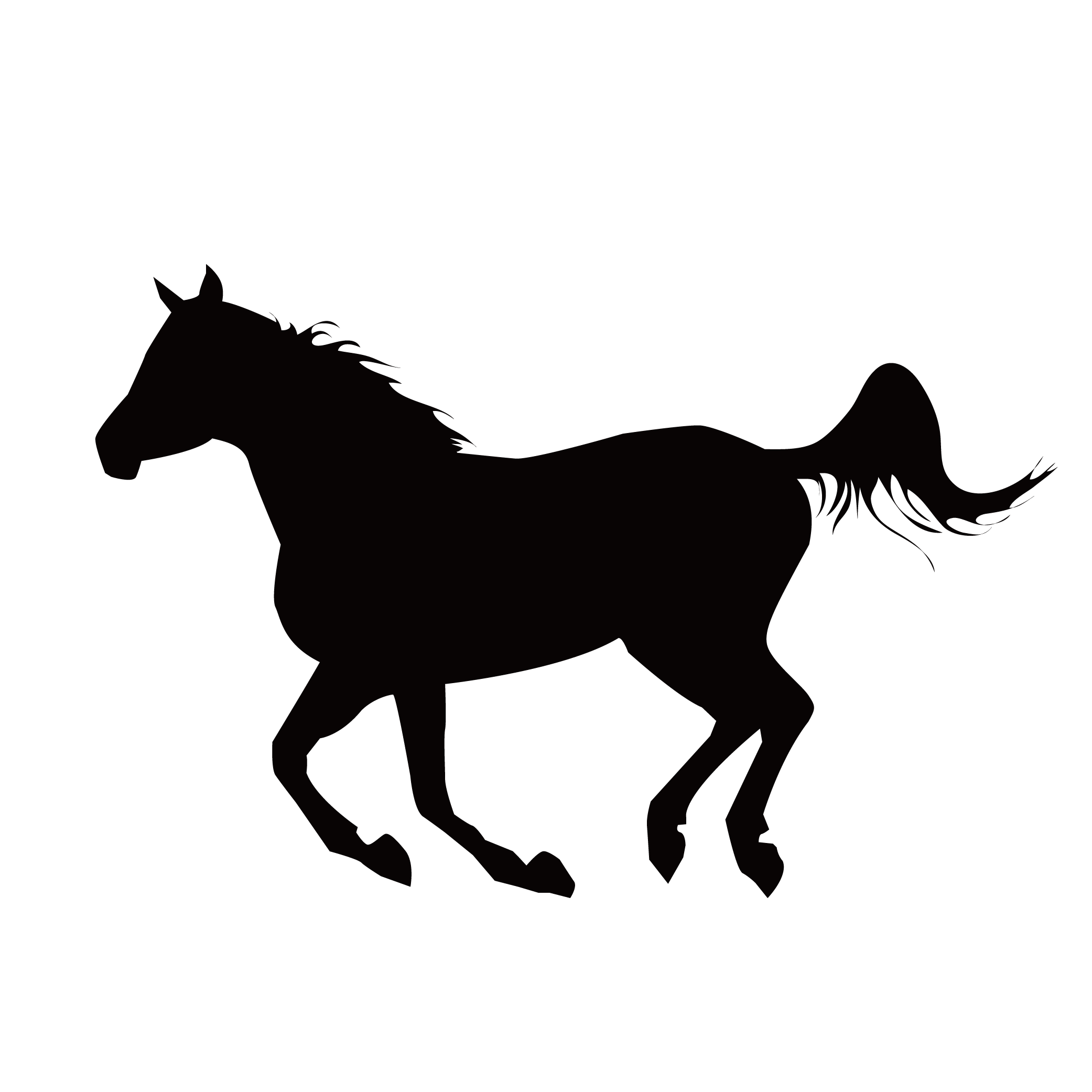 Mustang Stallion Equestrianism Clip art.