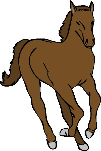 Running Horse 3 Clip Art at Clker.com.