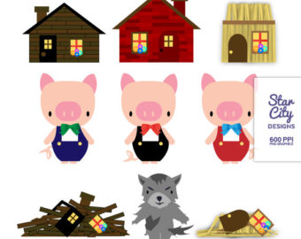 Free 3 Little Pigs Clipart, Download Free Clip Art, Free.
