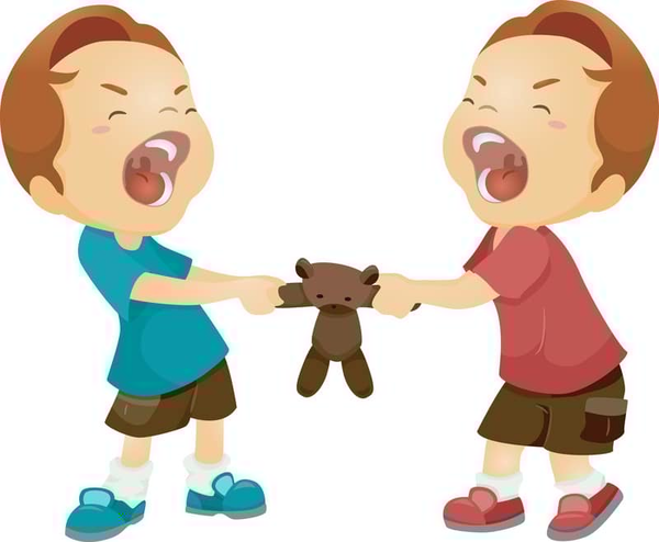 Children Arguing Clipart.
