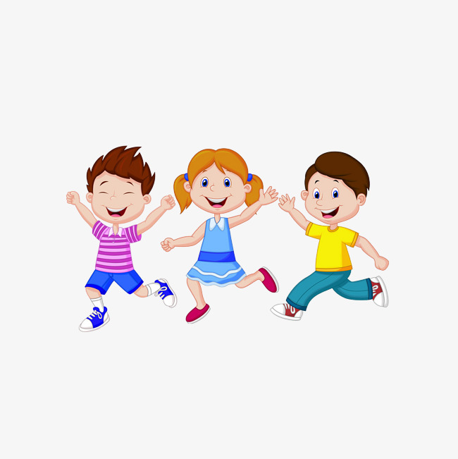 3 Children Clipart.
