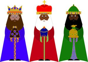 Three Wise Men Clipart Image.