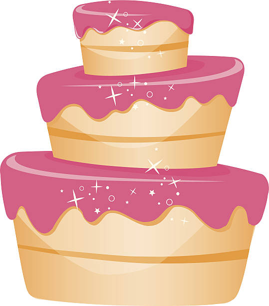 tiered cake clipart #6