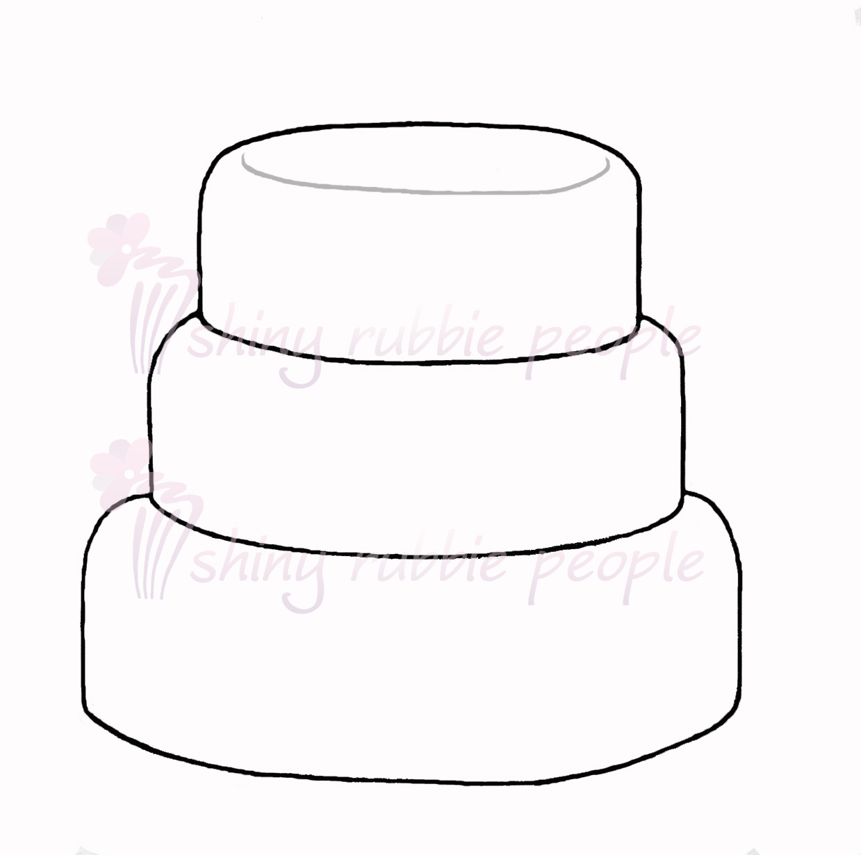Layer Cake Clipart Black And White.