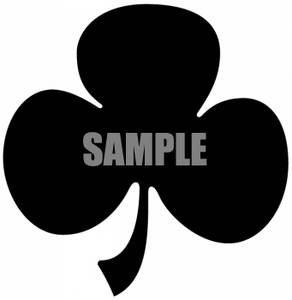 Clipart of a Three Leaf Clover.