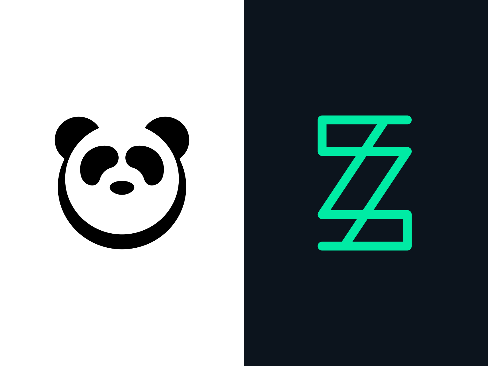 Daily Logo Challenge Day 3 & 4: Panda/Random Letter by Nick.