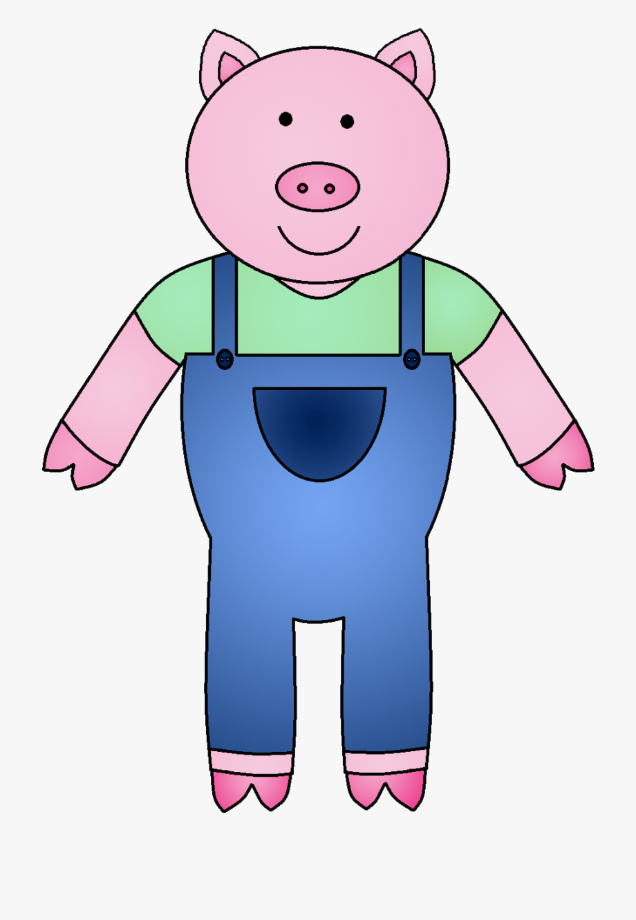 The Three Little Pigs Clipart.