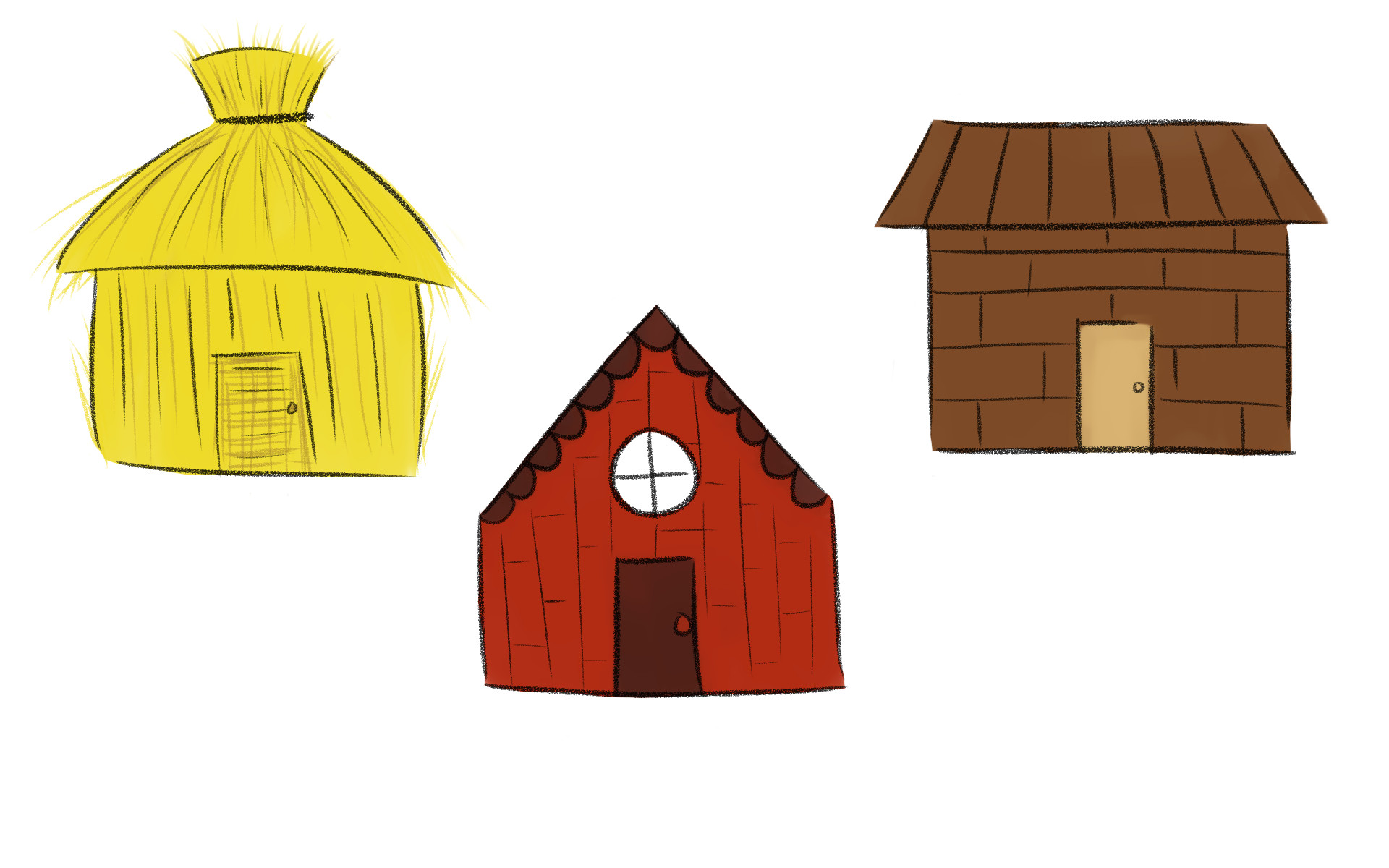 Three Little Pigs Houses Clipart at GetDrawings.com.