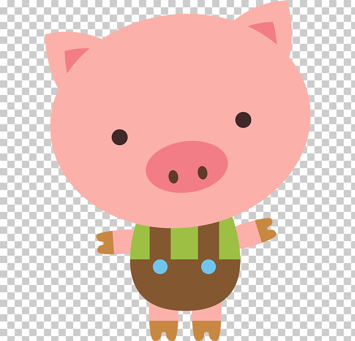 Domestic pig The Three Little Pigs , pig PNG clipart.