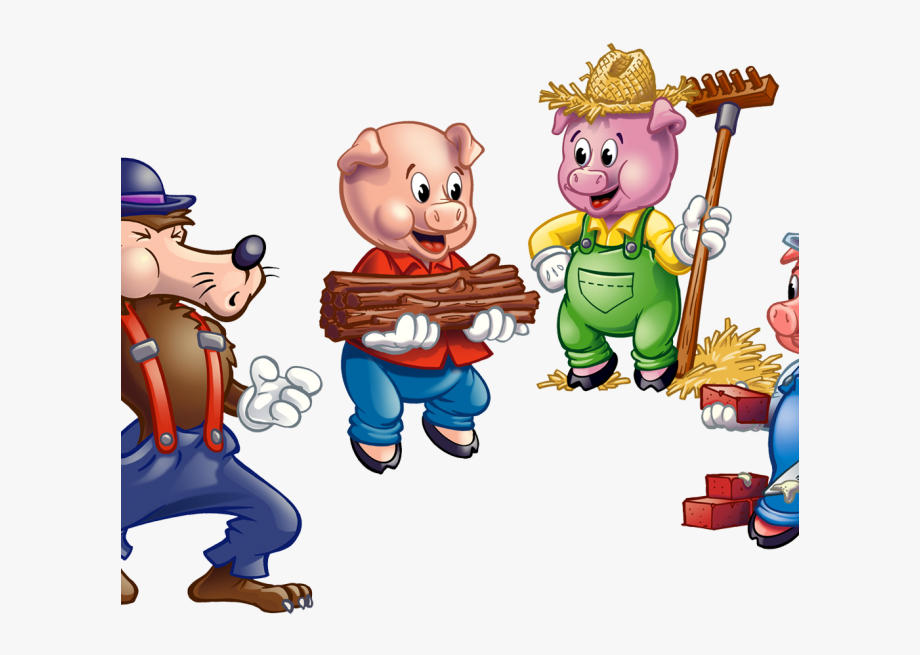 Three Little Pigs Clipart.