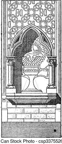 Clip Art Vector of Lobe, vintage engraving.