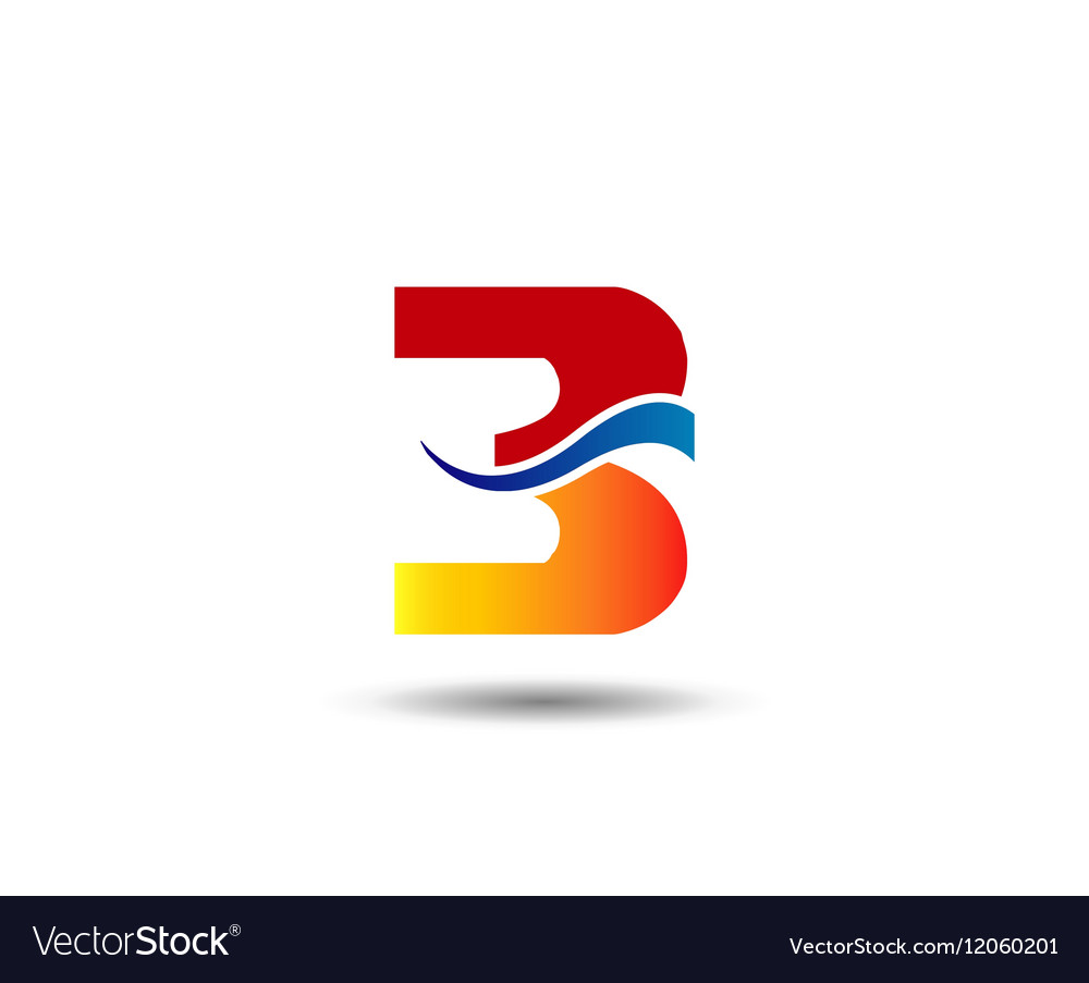 Number three 3 logo symbol design template element.