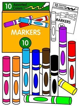 Markers clipart 3 » Clipart Station.