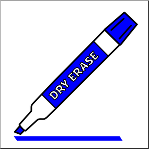 Clip Art: Dry Erase Marker Blue Color I abcteach.com.