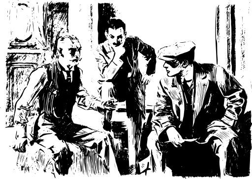 Three Men Thinking Clipart.