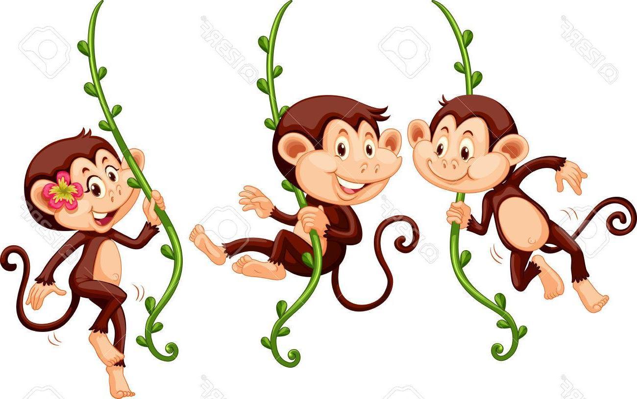 Best HD 3 Monkeys Cartoon Vector Library » Free Vector Art.