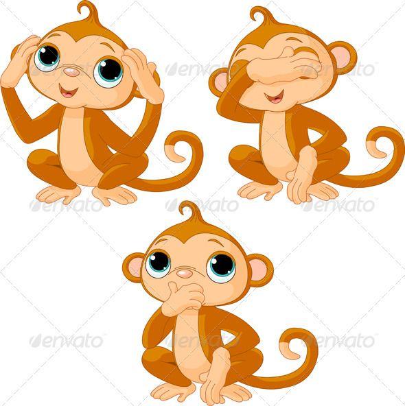 Three little monkeys.