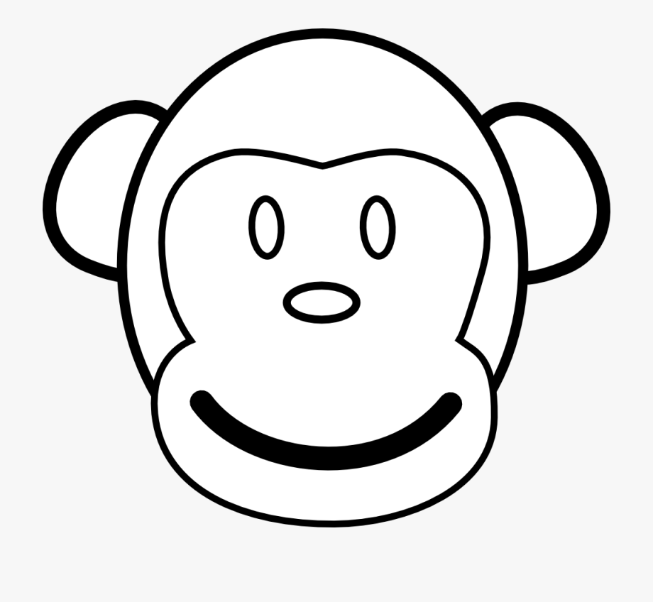 Monkey Black And White Pics Of Monkey Clip Art Coloring.