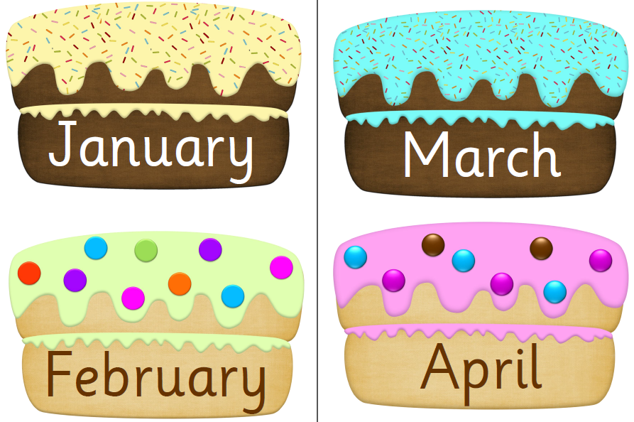 January Cake Clipart.