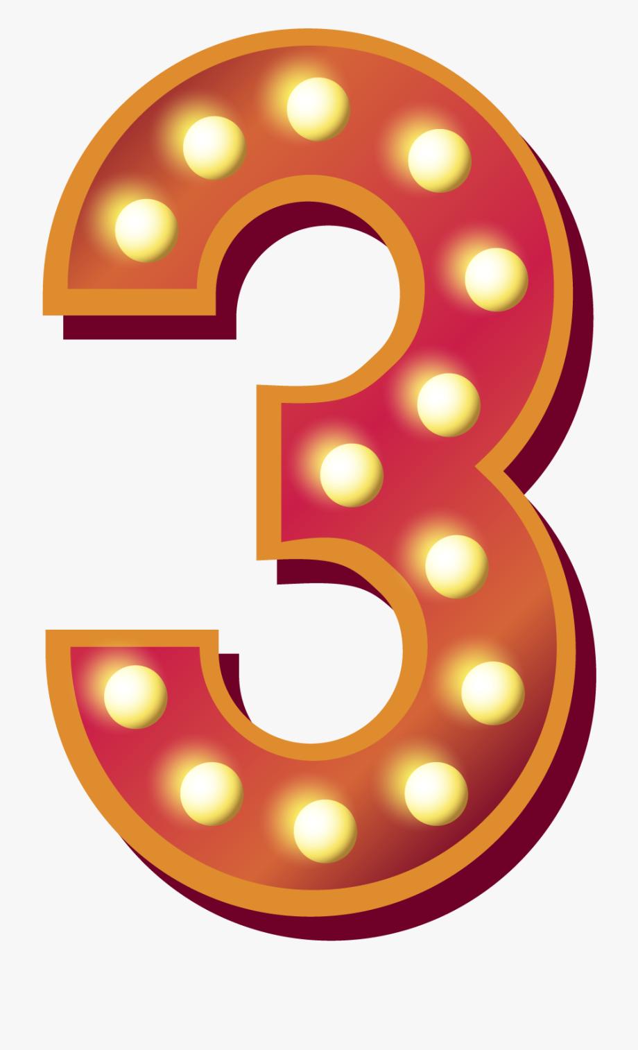 3 Number Png Download Free Image.