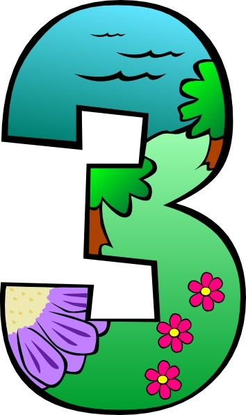 Creation Day 3 Number clip art Free vector in Open office.