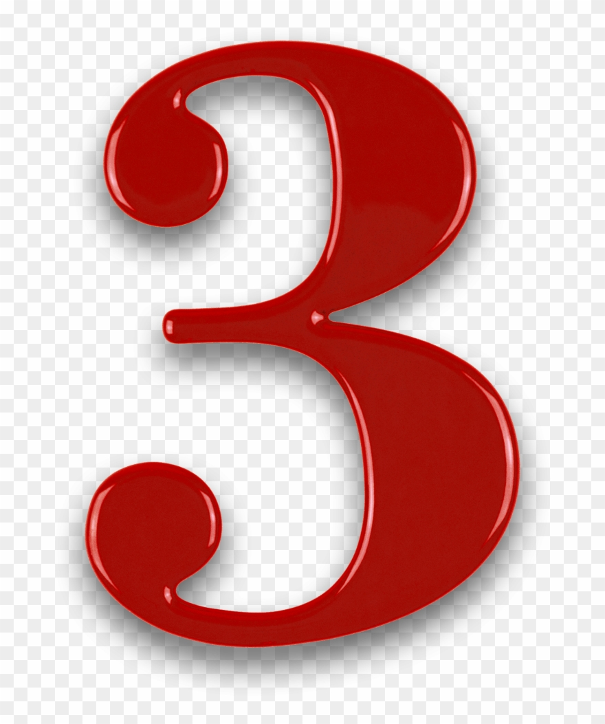 Number 3 clipart red, Number 3 red Transparent FREE for.