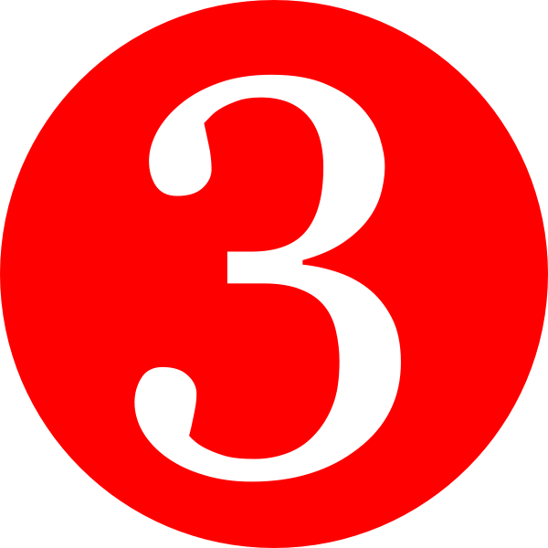 Red, Rounded,with Number 3 Clip Art at Clker.com.