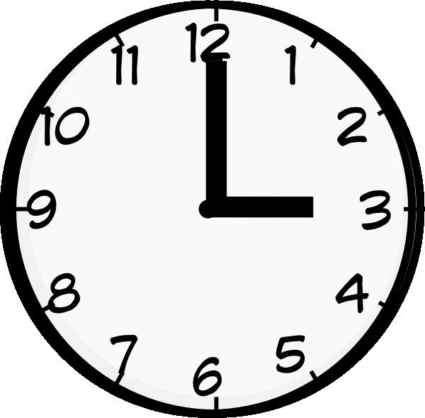 3 O Clock Clip Art at Clker.com.