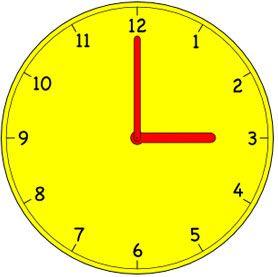 3 o\'clock.