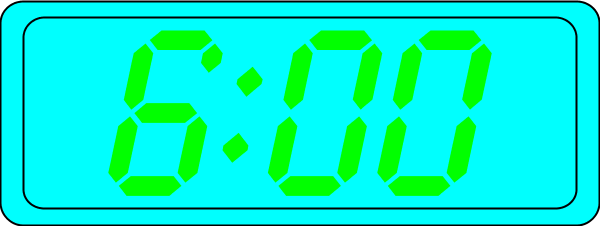 Digital Clock Clipart 6 00.