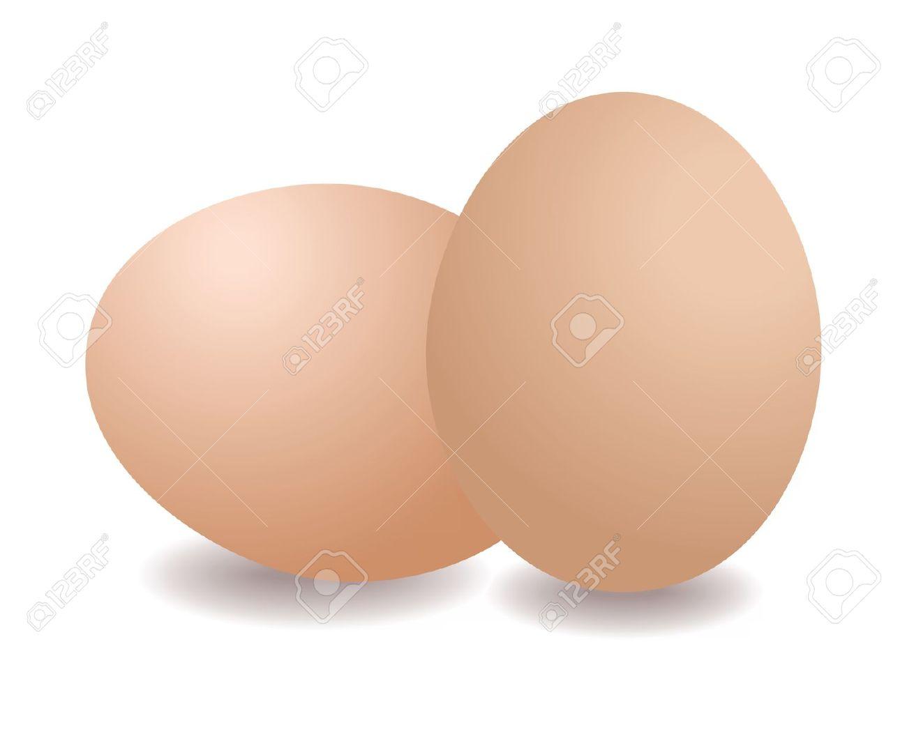 2 Eggs Clipart.