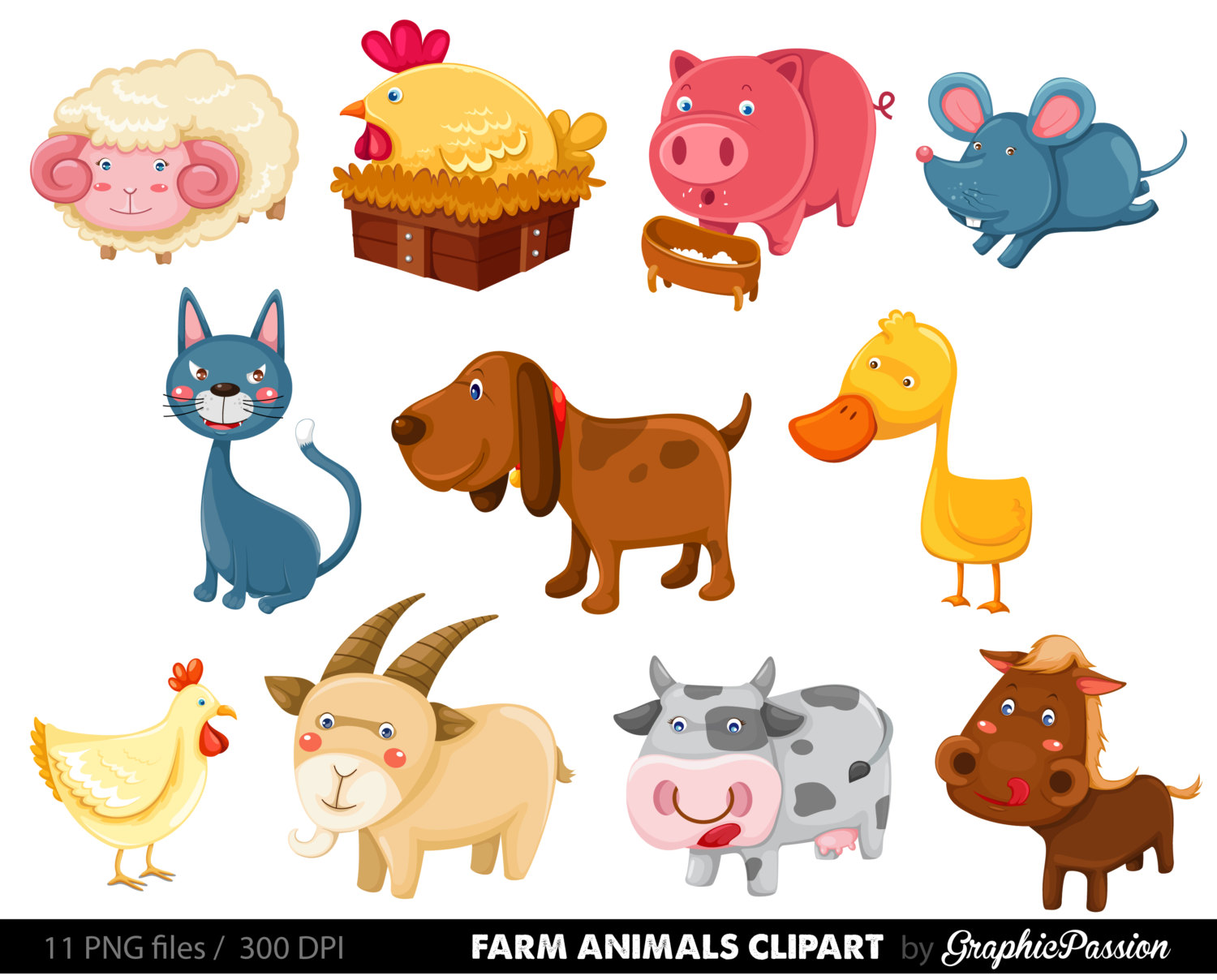 Domestic animals clipart 5 » Clipart Station.