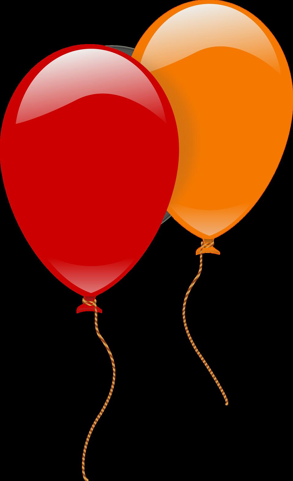 Orange clipart balloon, Orange balloon Transparent FREE for.