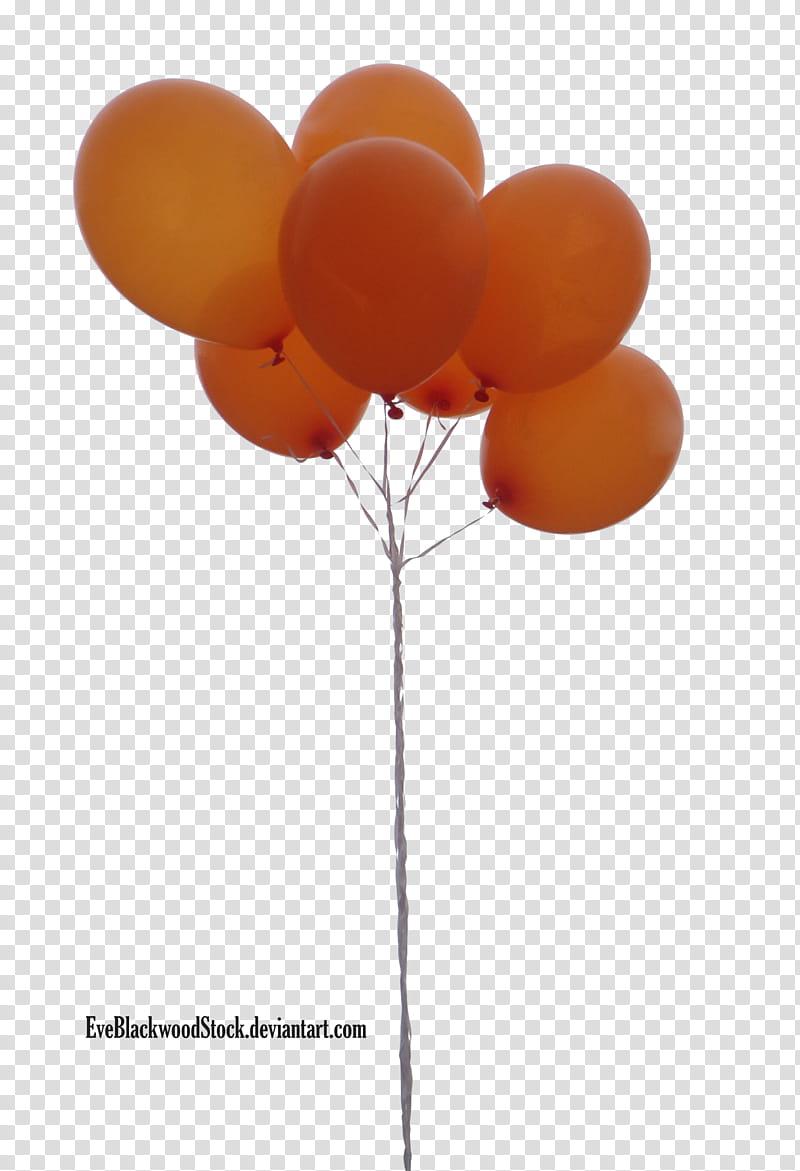 Balloons , orange balloons transparent background PNG.