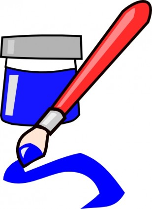 Paintbrush paint and paint brush clipart image 3.