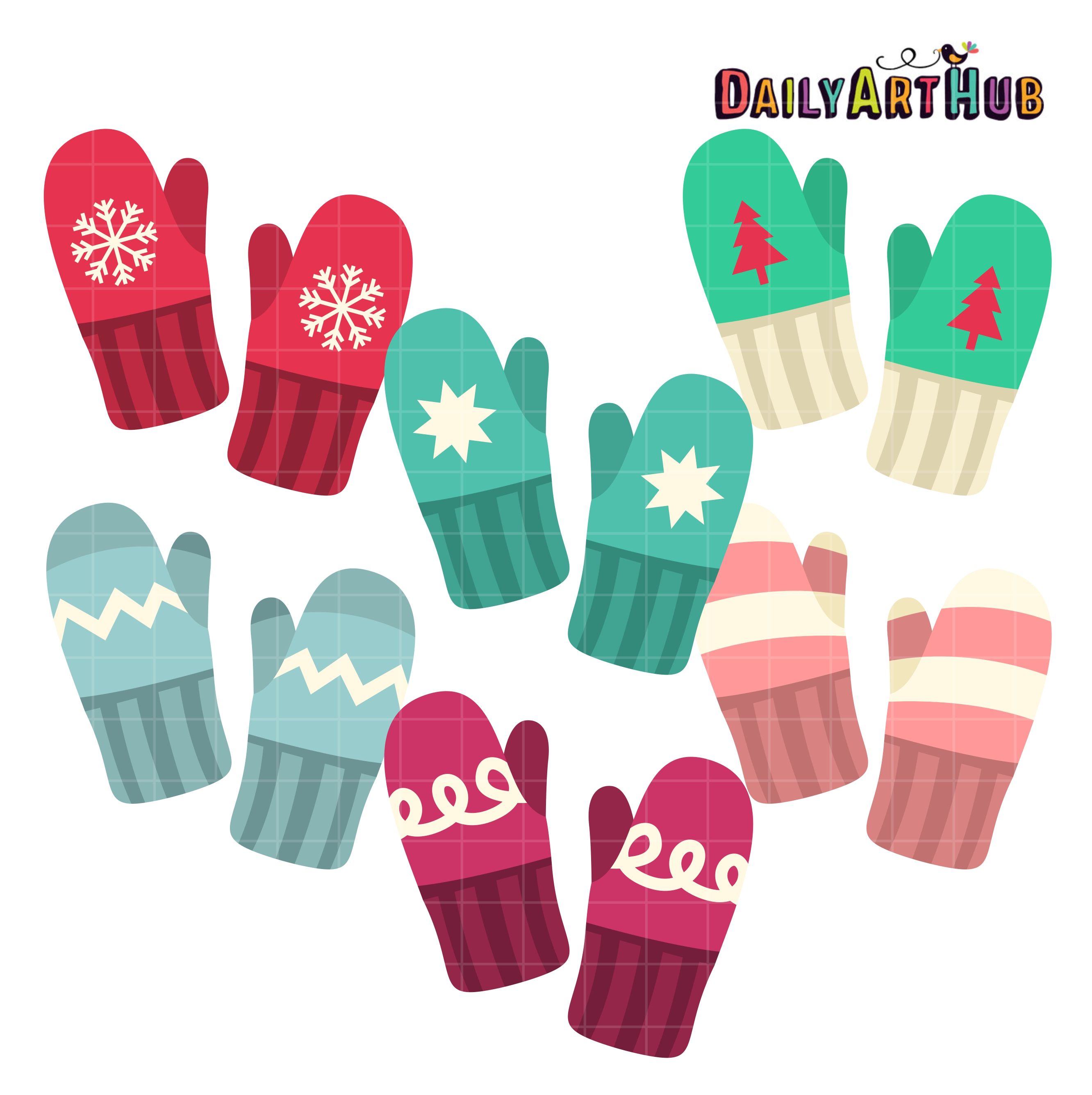 575 Mittens free clipart.