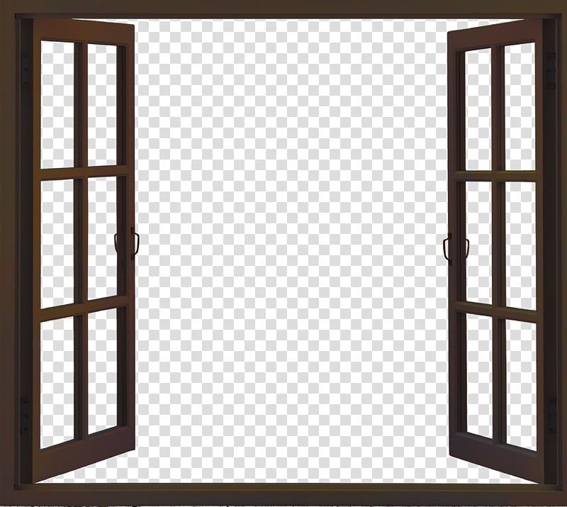 Window, open brown.